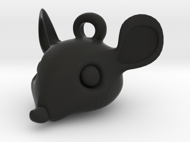 Mouse-head keychain 3d printed Mouse head key chain in stainless steel
