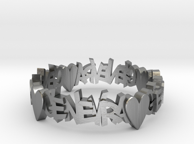 Ring.genevra 2.11 Sz7 17.35mm 3d printed