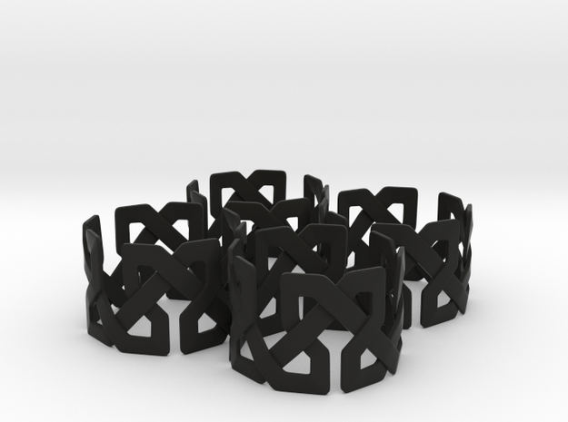Islamic Napkin Rings - Set of Four 3d printed