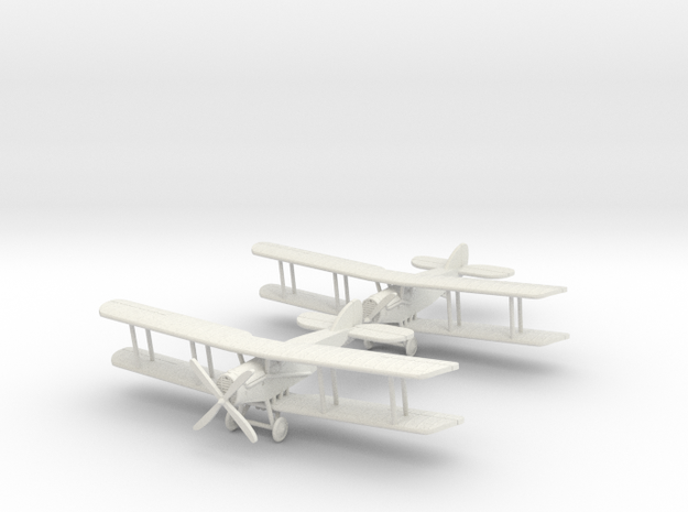 "Bristol F.2b ""4 Cooper Bombs"" x2 1:144th Scale 3d printed"