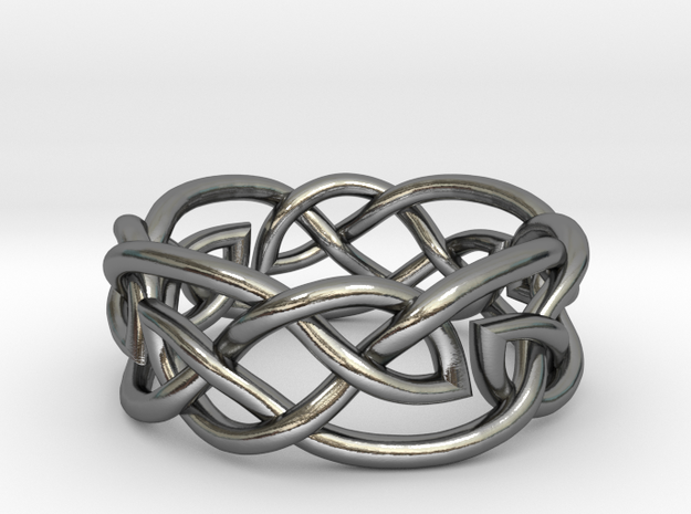 Double Leaf Celtic Knot Ring Size 6.5 3d printed