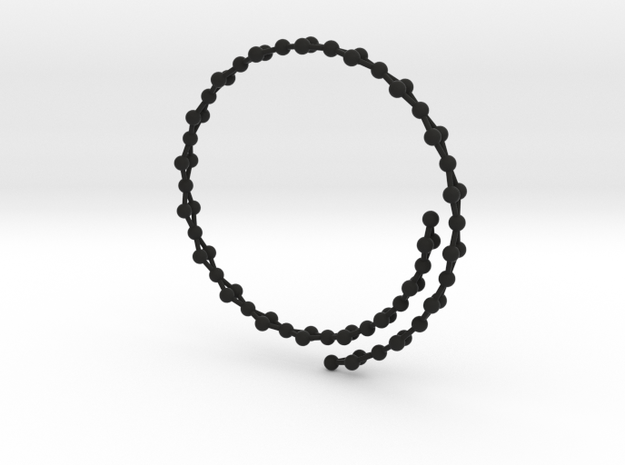Flexible Frustrated Chain Bracelet 3d printed