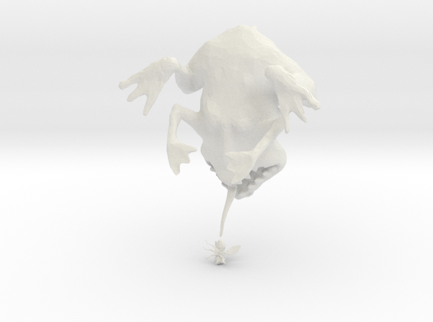 Frog with Fly 3d printed