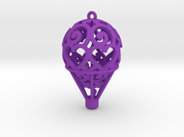 Hot Air Balloon Pendant 01 3d printed