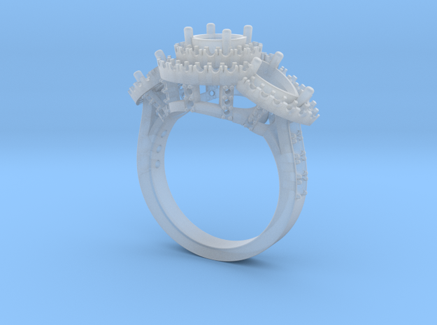 Pear Love Diamond Ring 3d printed