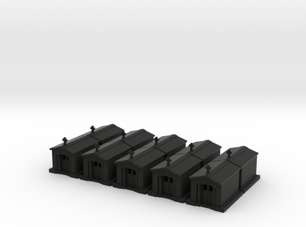 Mausoleum - Set of 10 - Zscale 3d printed