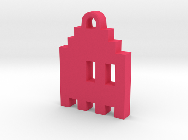 Pac Man Ghost 8-bit Earring 1 (looks right | movin 3d printed