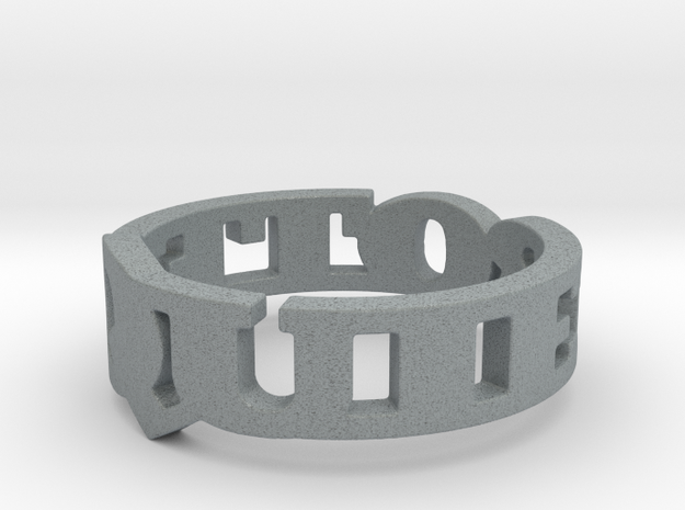 Te quiero Ring Design Size 6.75 3d printed