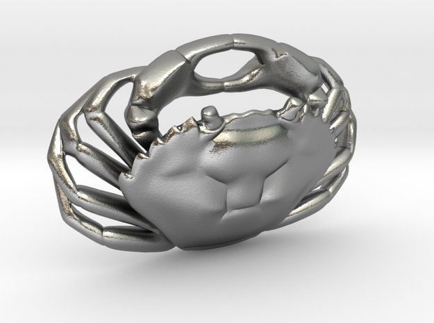 Crab Pendant (Carcinus maenas) 3d printed chain not included.
