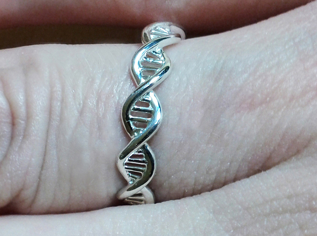 DNA Ring 3d printed Photograph by Cheri Cloninger