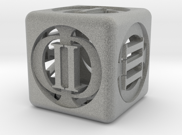 D-Phi 3d printed A HD render of the die.