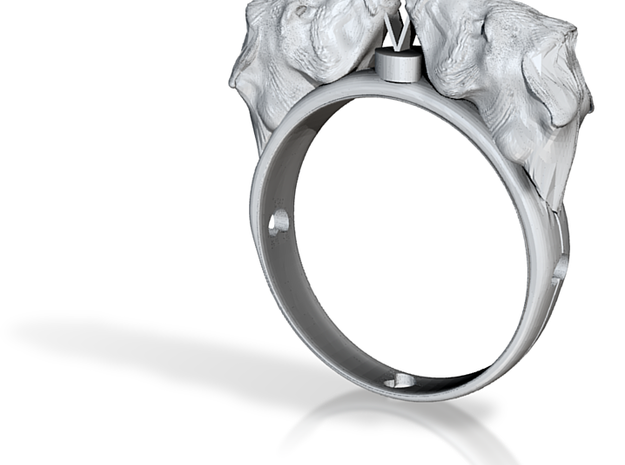 Lovely double donkey ring 3d printed