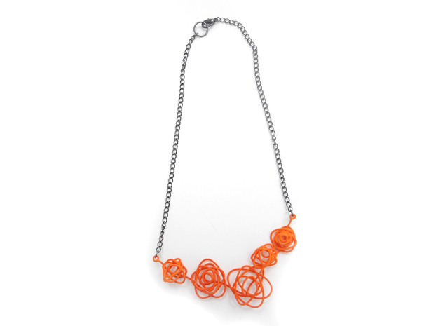 Sprouted Spiral Necklace 3d printed