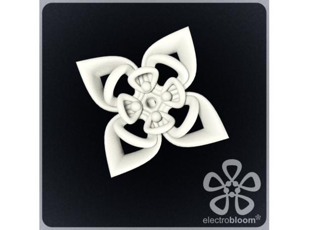 Sharon flower charm. 3d printed