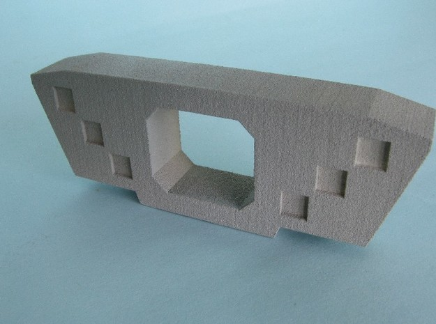 HO/1:87 Precast concrete bridge segment fill (wide 3d printed painted, half