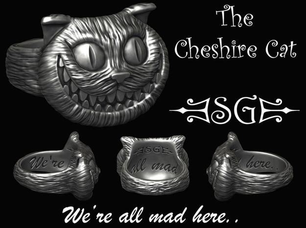 Cheshire Cat Ring 3d printed Digital Design