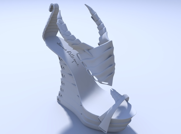 Janina Alleyne - Scorpion Shoe (Top) 3d printed Render 2