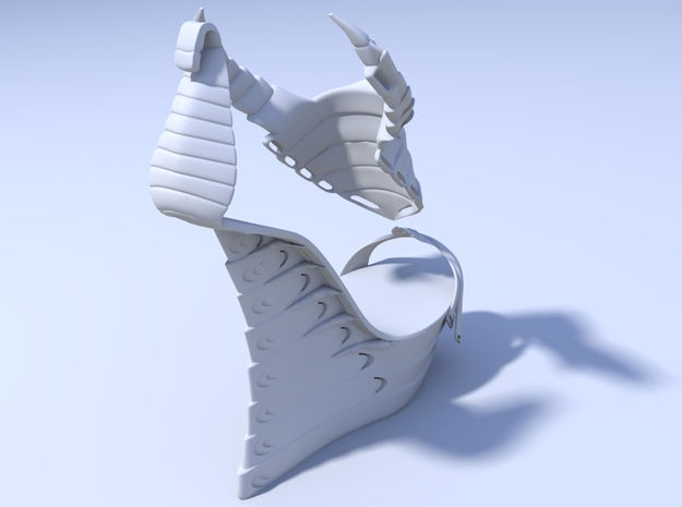 Janina Alleyne - Scorpion Shoe (Top) 3d printed Render 3
