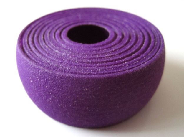 Onion Slice 3d printed In Purple Strong and Flexible