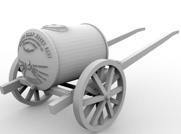 The Famous Furphy Water Cart-Horse-Drawn(O/1:48) 3d printed