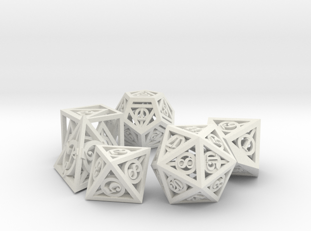Deathly Hallows Dice Set noD00 3d printed Stainless Steel
