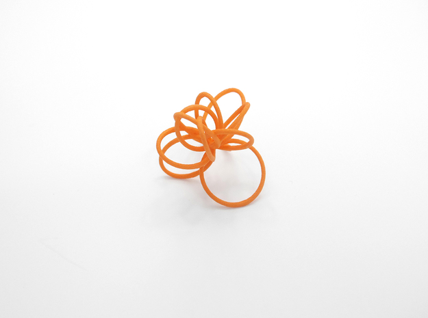 Flora Ring B (Size 7) 3d printed