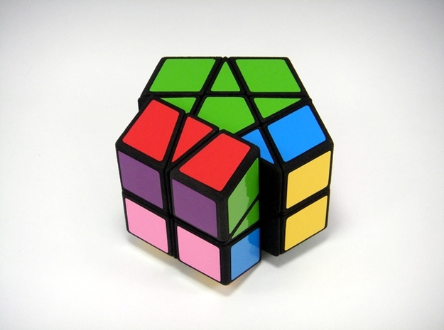 Fractured Prism Puzzle 3d printed 90 Degree Turn