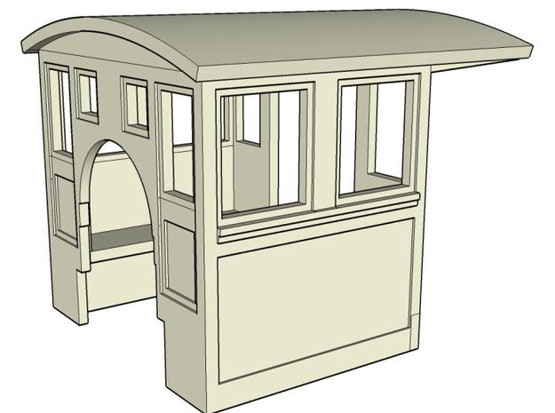 HOn30 Cab for 2-8-0 steam loco, mk.2 3d printed
