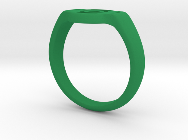 Green lantern ring Size: US14 3d printed