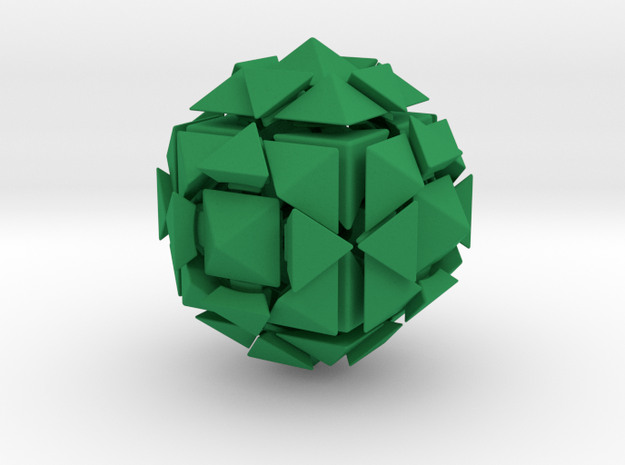 Rhombic18 Puzzle set A 3d printed