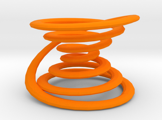 Closed spiral 3d printed