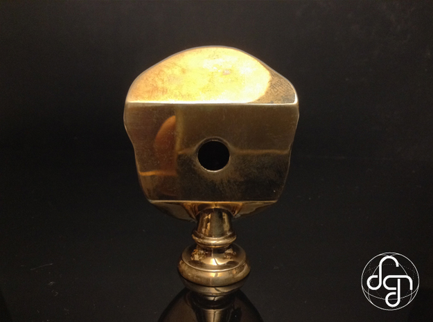 Beethoven's Life Mask [6cm] Hollow 3d printed Back [Polished Bronze]