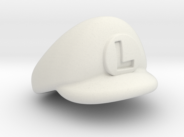 L-Plumber Cap 3d printed Painted Frosted Ultra Detail