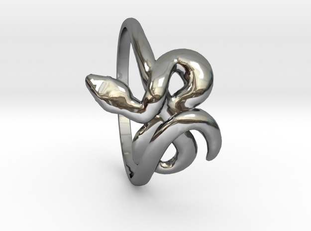 Slytherin Snake ring 8.5 3d printed