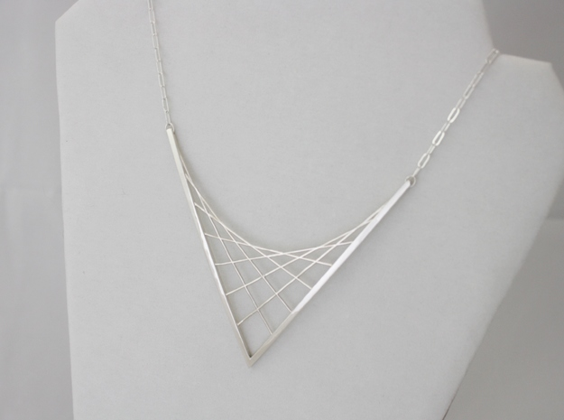 Parabolic Suspension Statement Necklace - Metal