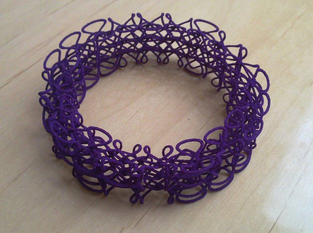 Celtic Bracelet 3d printed Bracelet printed in Purple Strong & Flexible
