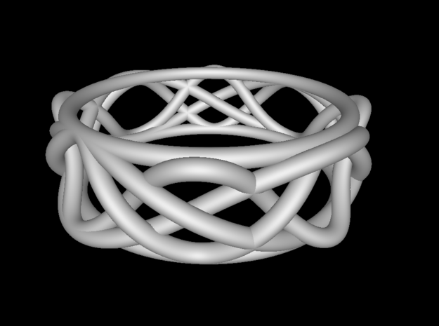 Sine Ring Irregular 3d printed Ring design shown in Functy.