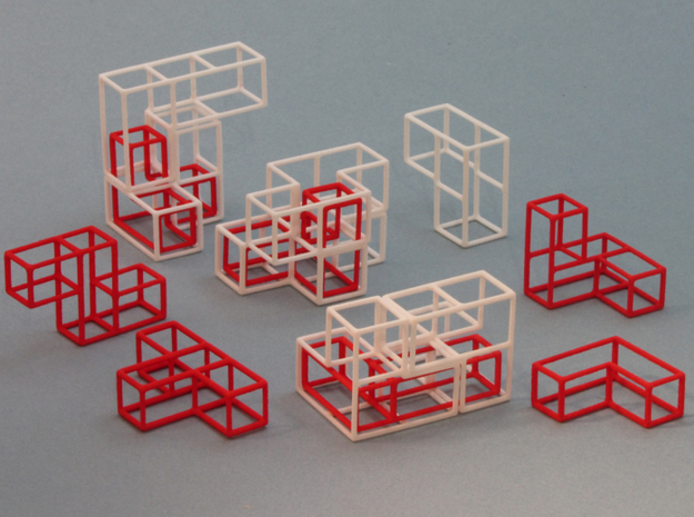 """SOMA's Revenge"" - Inner Parts Only 3d printed Cube Example 1 - Exploded view"