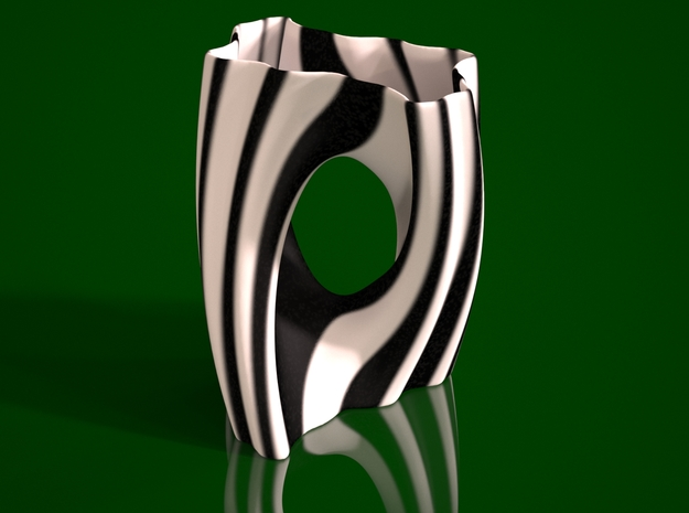 Julia Vase #002 - Yin Yang 3d printed Preview render