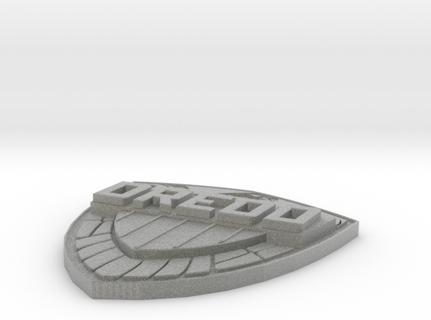 Judge Dredd shield badge - Comic version 3d printed