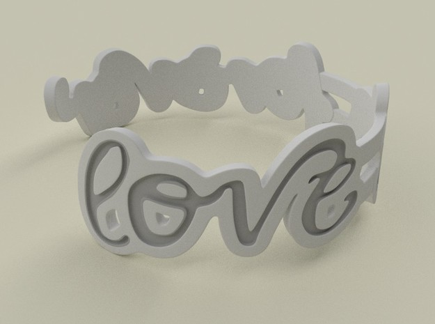 Love Is Forever Bracelet 3d printed