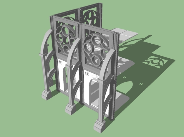 28mm Wargaming Gothic Building (Connectors) 3d printed