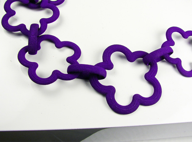 Colourful Flower Necklace 3d printed