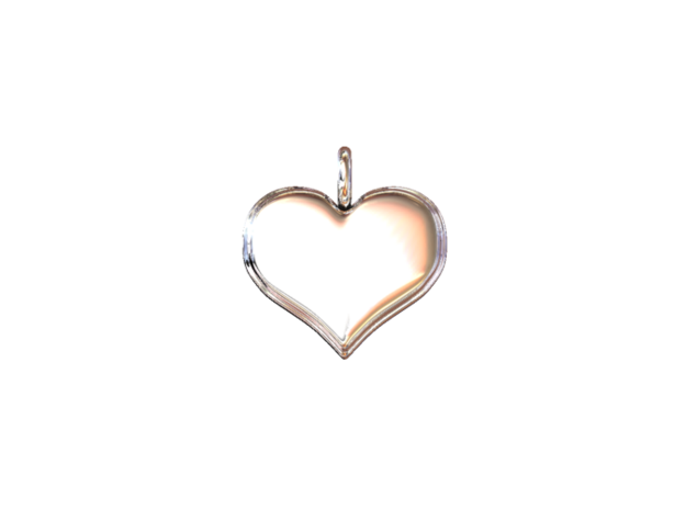 """Necklace Pendant """"HEART"""" *small* 3d printed"""