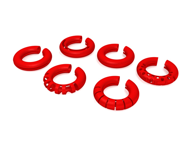 Wine Rings 20|7 3d printed This set includes six rings.
