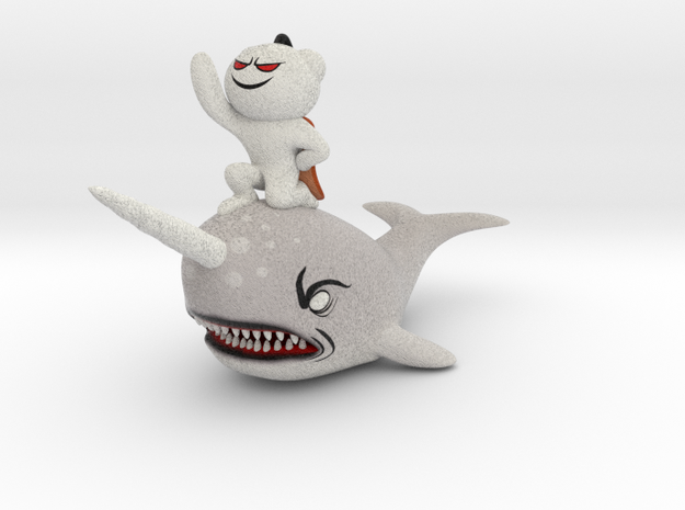 Reddit Alien riding the Narwhal 3d printed