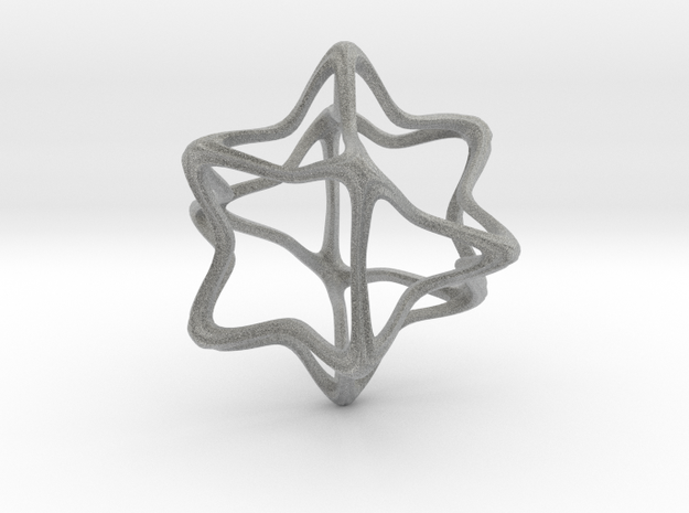 CubeOctoHedra Curvy Pinch - 5cm 3d printed