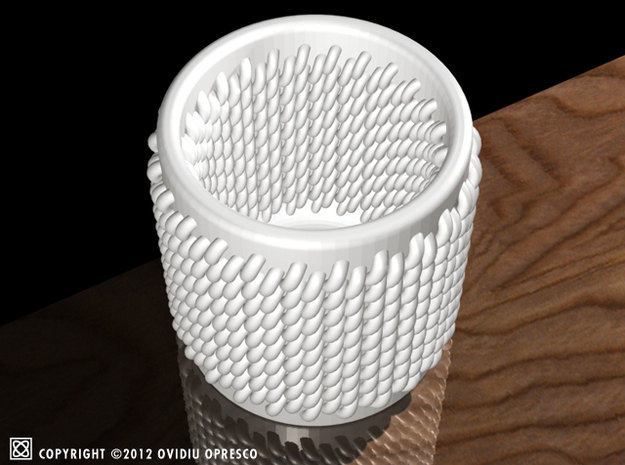 "Knitted Ceramics ""Shot Glass"" 3d printed"