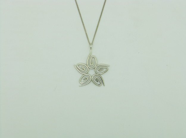 Star Filigree Pendant 3d printed