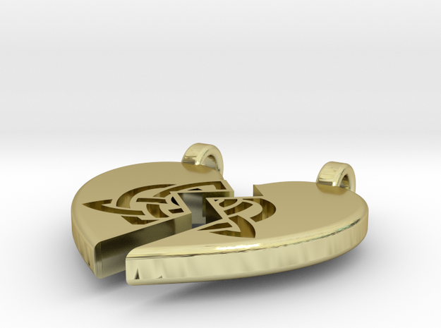 Heart Pendent (Sisters Bond Celtic) 3d printed